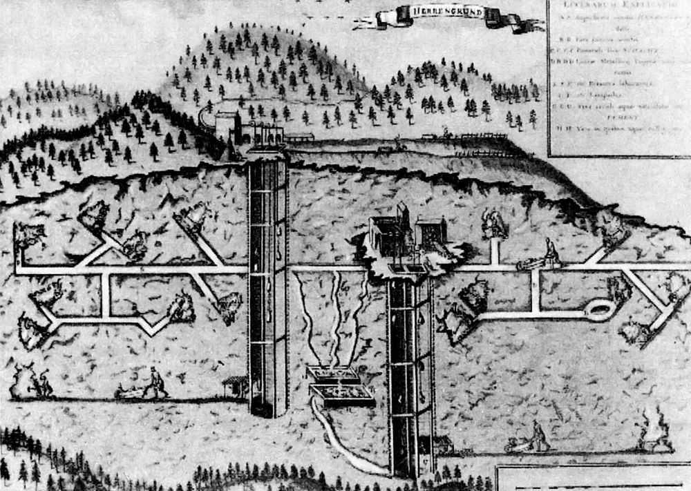 Средневековая рудная шахта