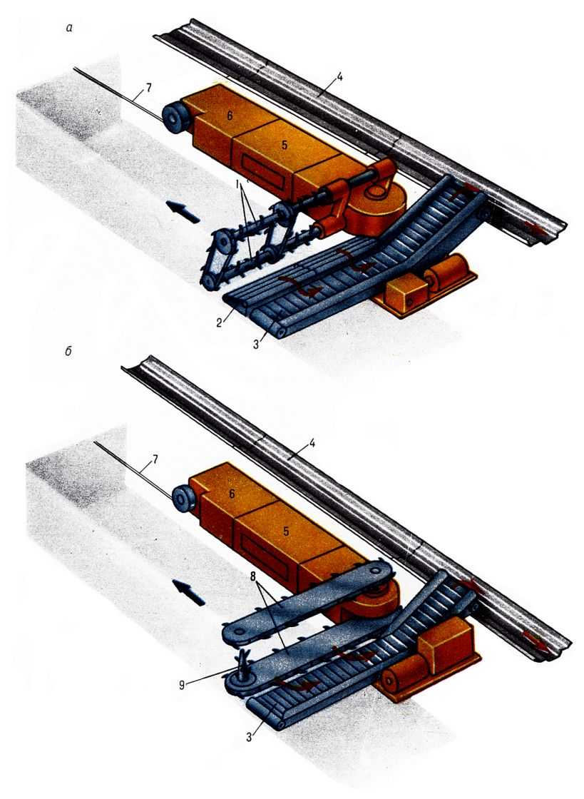 Пластинчатый конвейер состоит из полотна, образованного из стальных пластин, прикрепленных к двум тяговым...