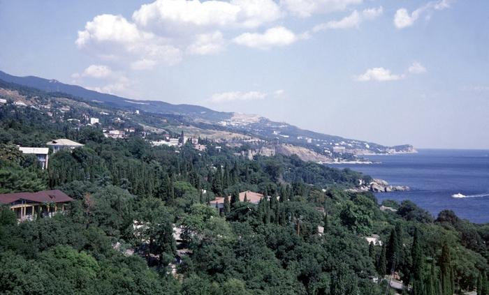 Общий вид курорта алупка украинская
