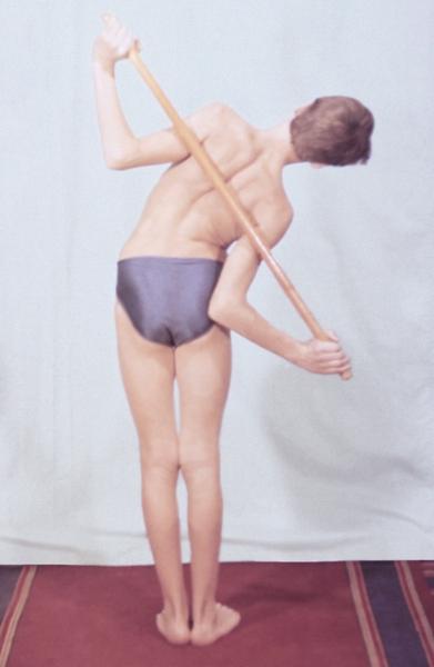 Рис. 6г). Физические упражнения, направленные на профилактику нарушений осанки: наклоны туловища в стороны
