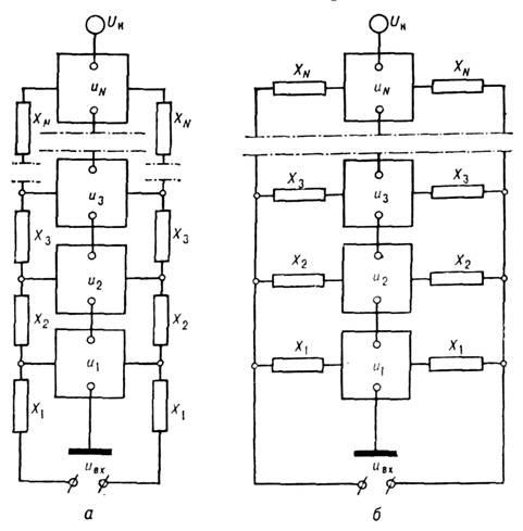 Схема каскадного генератора с
