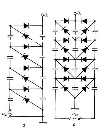 Схема каскадного генератора