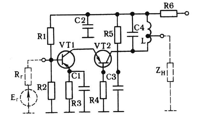 (VT1) - общая база (VT2).