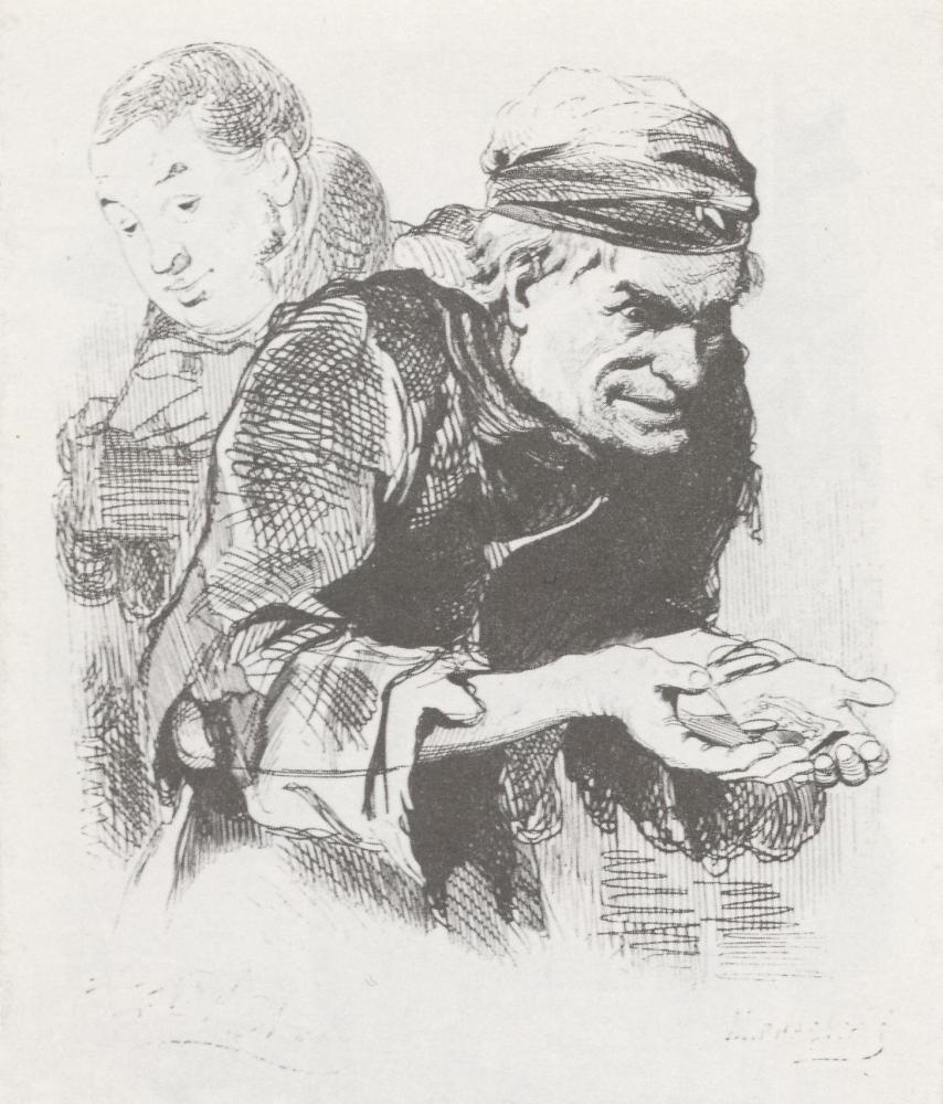 Плюшкин. Иллюстрация к поэме Н. В. Гоголя