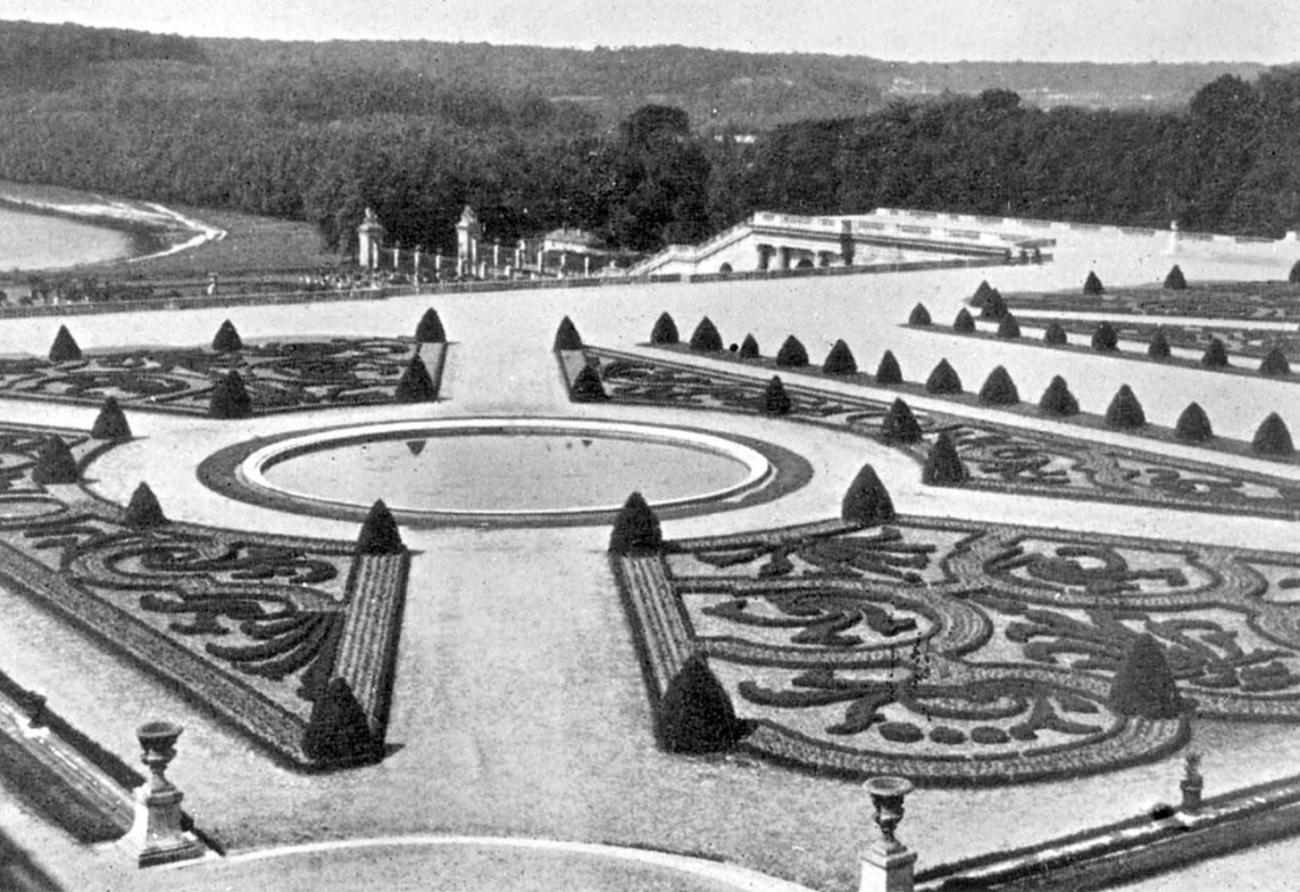 Партеры парка в версале 1660 е гг