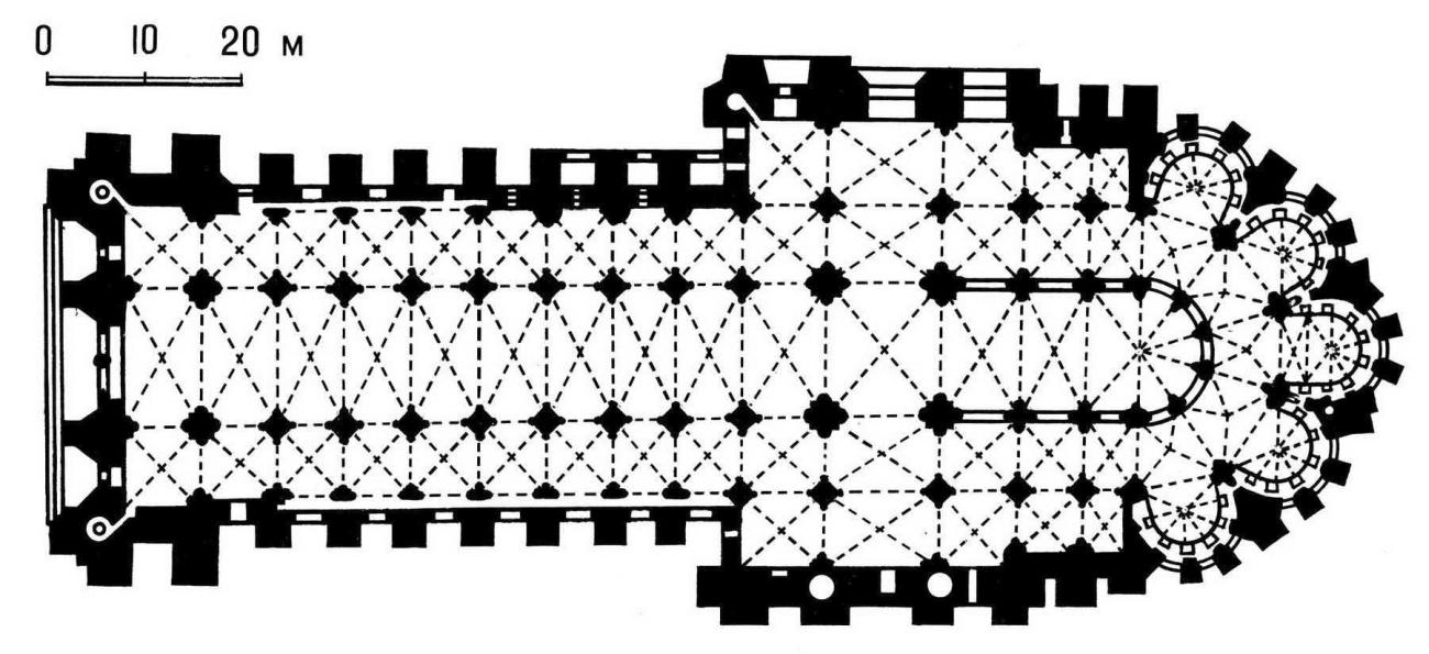 План собора в Реймсе (Франция)