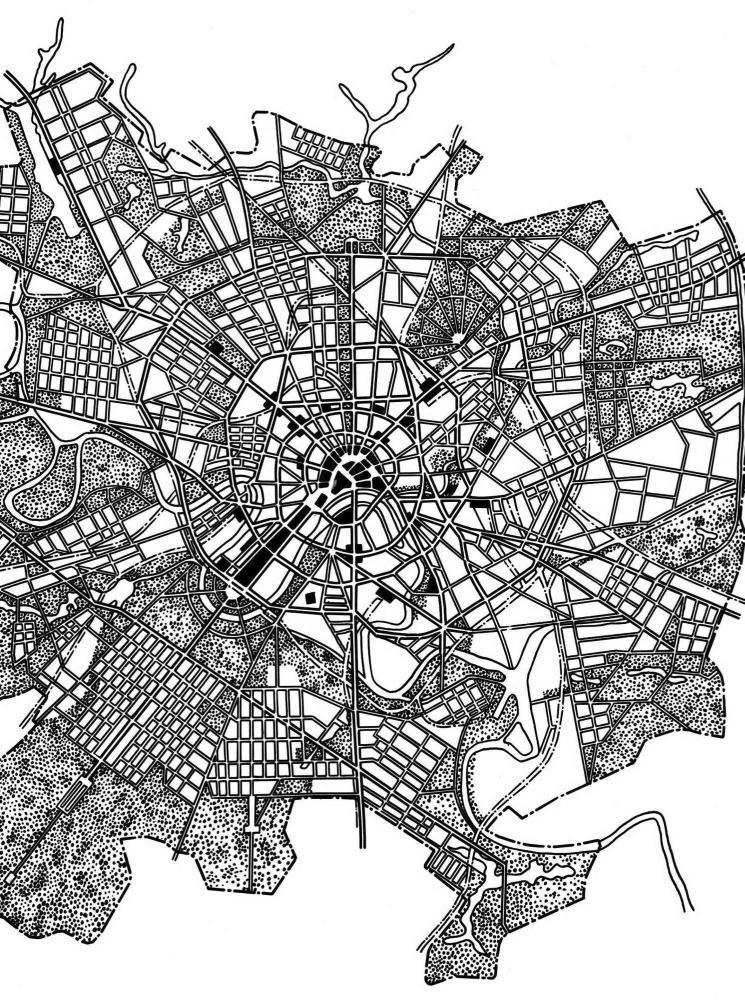 Схемы планировки Москвы. 1935.