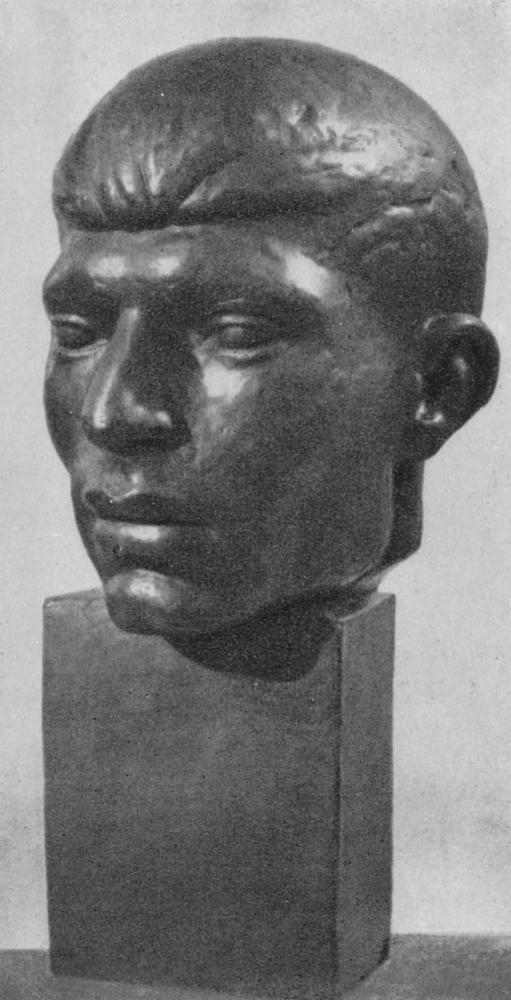 Ю. Чкадуа. Мужской портрет. Гипс. 1964.