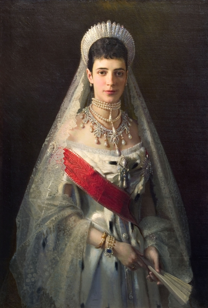 Portrait of Maria Fyodorovna, born Princess Dagmar of Denmark , wife of russian tsar Alexander III
