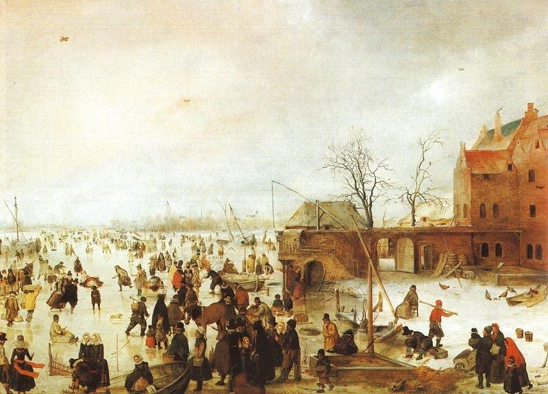 Сцена на льду у башни. 1610