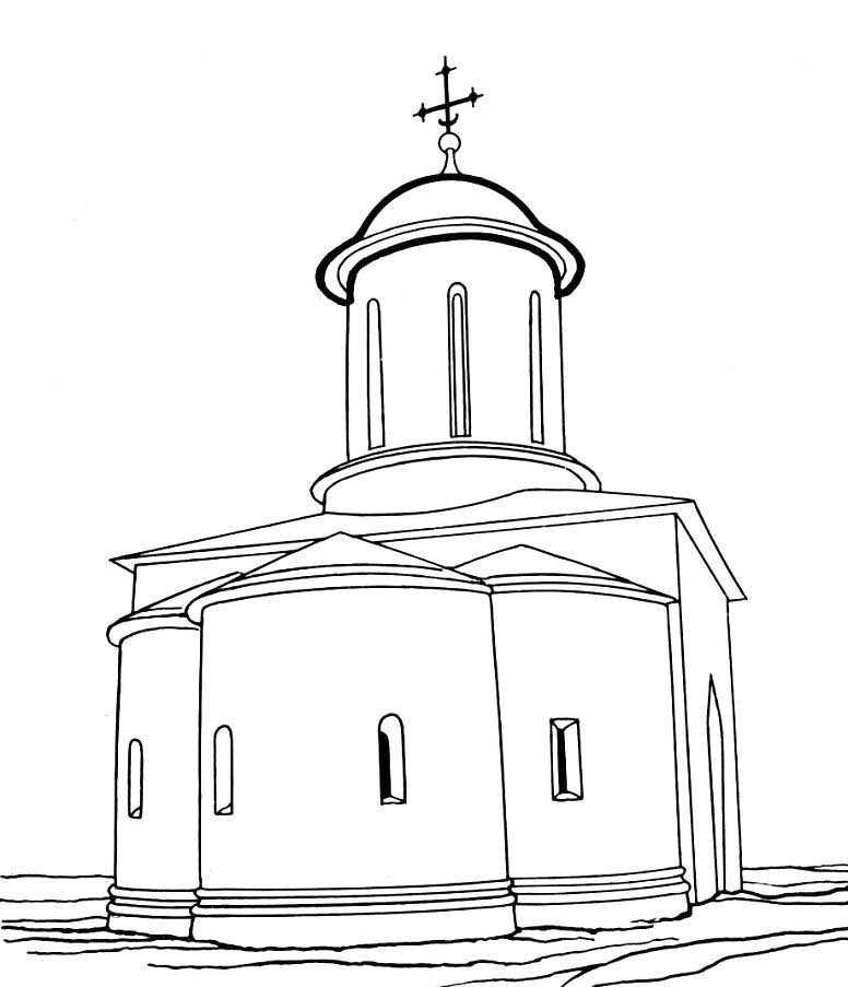 картинка церкви из раскраски многое