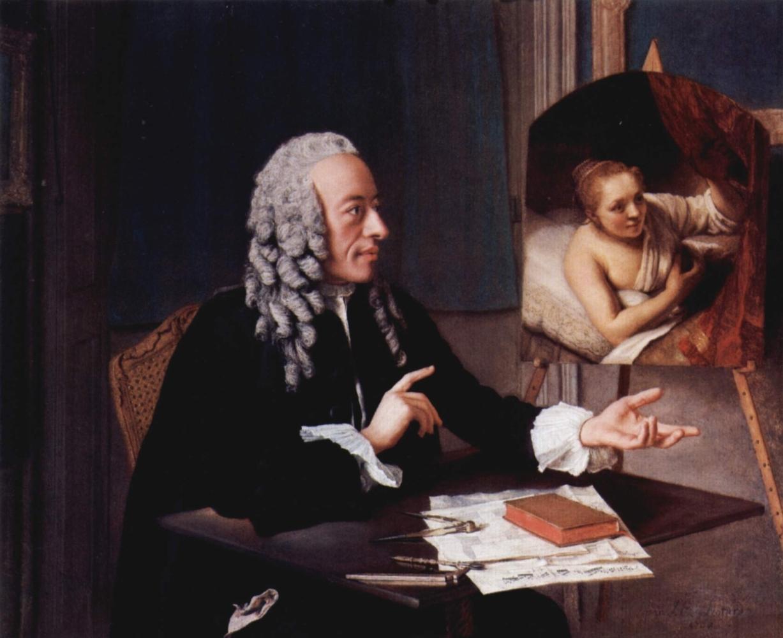 Portrat des Francois Tronchin mit seinem Rembrandt-Gemalde