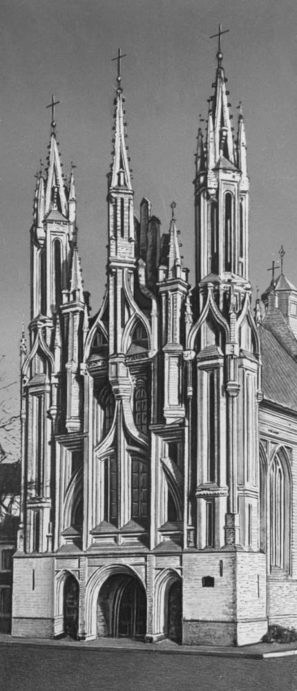 Церковь Онос в Вильнюсе. Окончена в 1580.