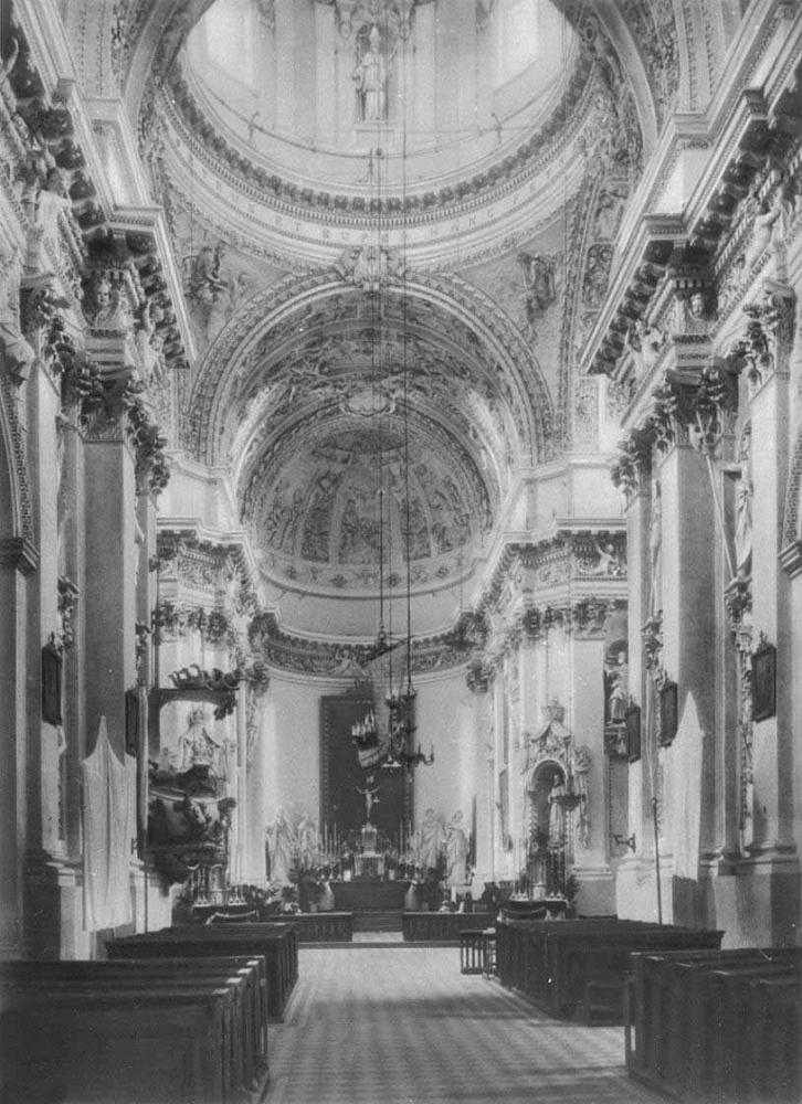 Й. Заор, П. Перетти, Дж. Б. Галли и др. Церковь Пятро ир Повило в Вильнюсе. 1668 - 1675. Интерьер.