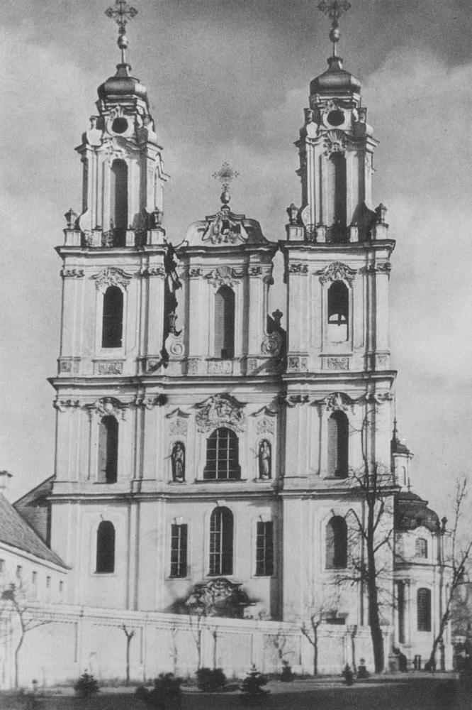 И. К. Глаубиц. Церковь Котринос в Вильнюсе. Фасад. 1744.
