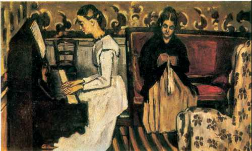 "П. Сезанн. ""Девушка за пианино. Увертюра к ""Тангейзеру"""""