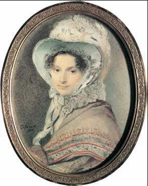 П. Ф. Соколов. «Портрет Н. В. Кочубей». Акварель. 1821г.