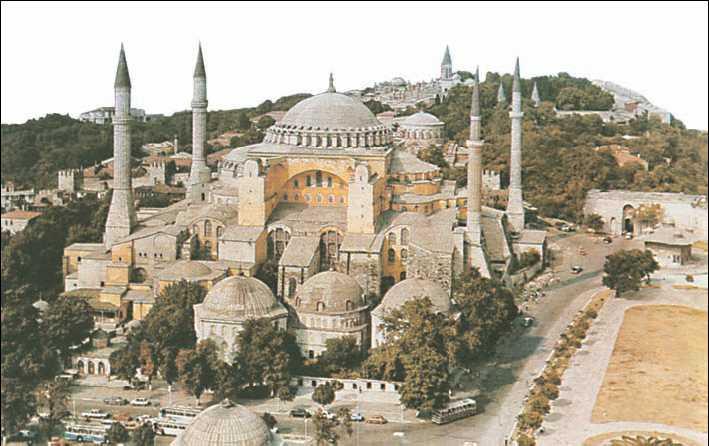 Храм св. Софии в Стамбуле (современный вид)