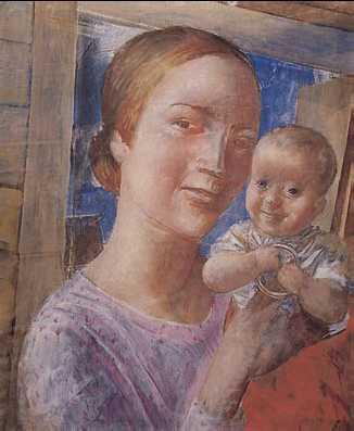 К. С. Петров-Водкин. «Мать и дитя». 1927 г. Государственный Русский музей. Санкт-Петербург