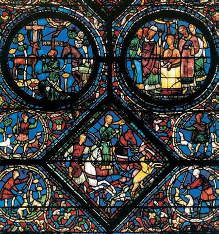 Витражи собора в шартре 13 в