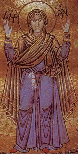 «Богоматерь Оранта». Мозаика храма Св. Софии Киевской. 11в.