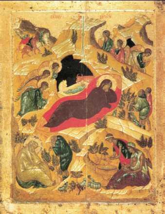 Древнерусское искусство это Что такое Древнерусское искусство   Рождество Христово Икона Московская школа 15 в Государственная Третьяковская галерея