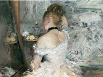 Б. Моризо. «Женщина за туалетом». Ок. 1875г. Художественный институт. Чикаго