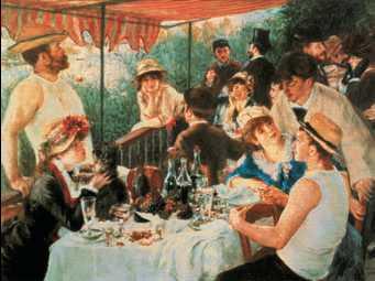 О. Ренуар. «Завтрак лодочников». 1881г. Мемориальная галерея Филлипса. Вашингтон