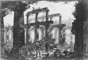 Дж б пиранези руины храма нептуна в
