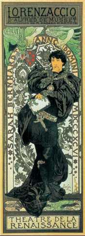 А. Муха. Афиша театра «Ренессанс». 1898 г.