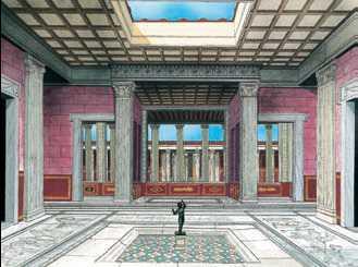 Отделка древнегреческих и древнеримских домов