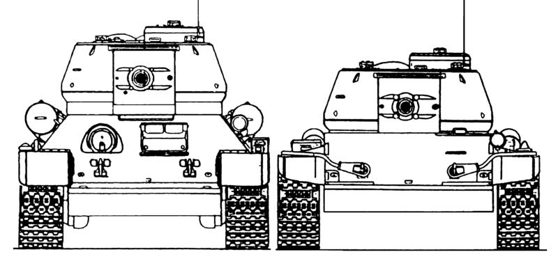 На танках Т-44 и Т-54 была