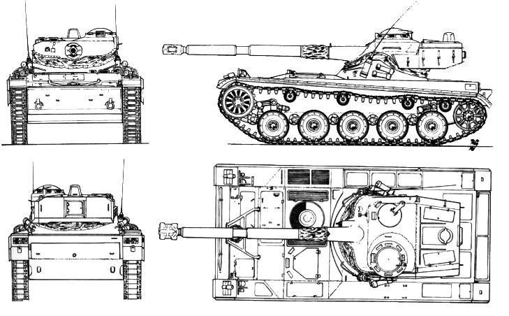 В 1946 году французское правительство решило оснастить свою армию танком отечественного производства. Был дан заказ на разработку легкого аэротранспортабельного танка весом 13 т. В 1949 году был изготовлен опытный образец, а в 1951 году началось его серийное производство. Пятилетний срок от заказа до серийного выпуска немалое достижение, если учесть печальное состояние французской промышленности после войны.