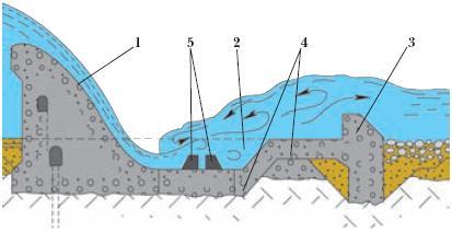 сучки устройство водосброса и гасителя члена