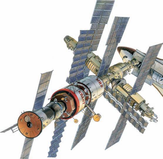 Орбитальная станция «Мир» по состоянию на 1990 г