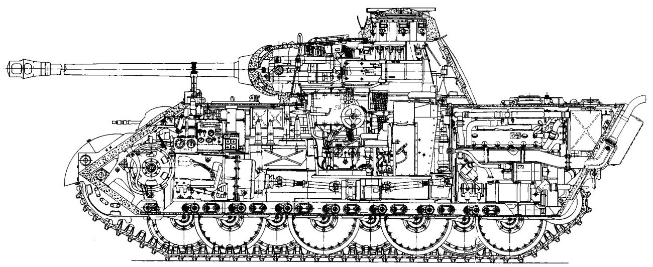"Компоновка танка PzKpfw V """