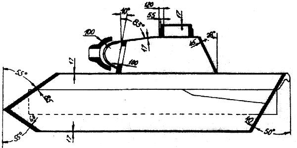 Схема бронирования танка