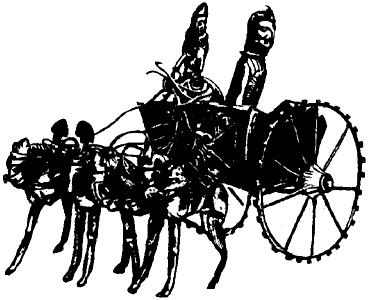 Модель колесницы. Золото.