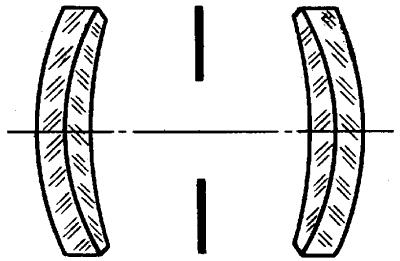 Схема апланата с относительным отверстием1:8.