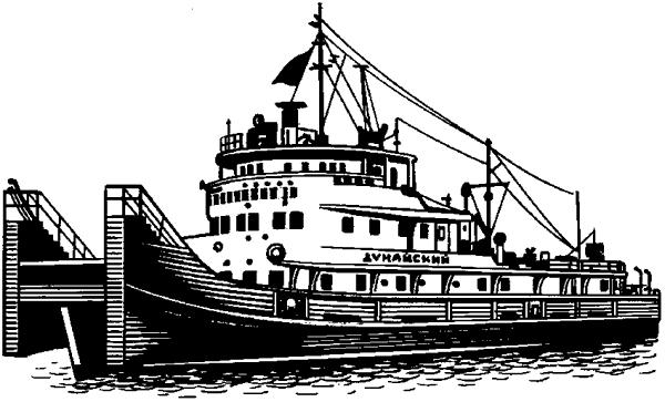 Буксирное судно-толкач.