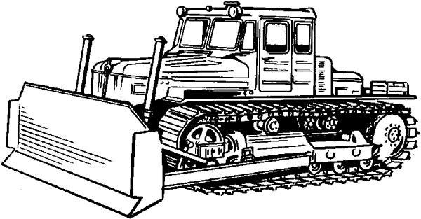 3d Онлайн раскраски тракторов и бульдозеров