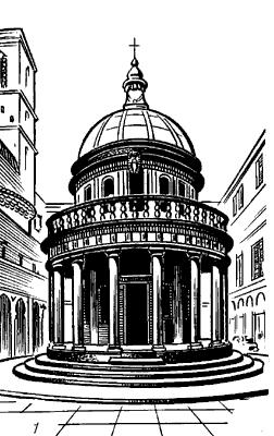 Часовня Темпьетто в Риме.