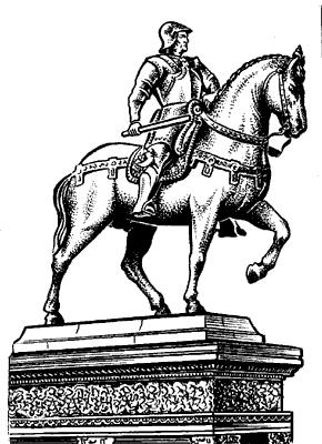 А.Верроккьо. Памятник кондотьеру Б.Коллеони в Венеции.