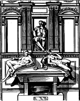 Микеланджело. Гробница Л.Медичи во Флоренции.