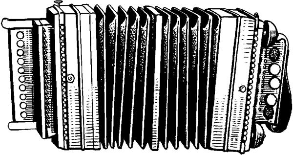 Гармонь однорядная— саратовская.