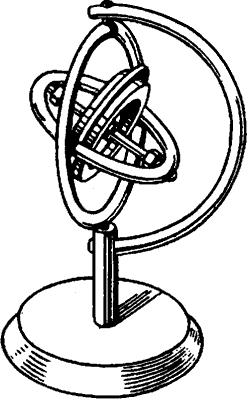 Гироскоп в кардановом подвесе.