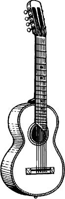 Семиструнная гитара.