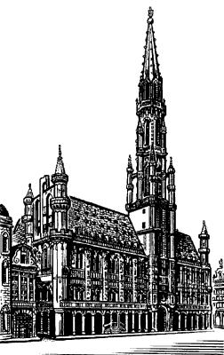 Ратуша в Брюсселе.