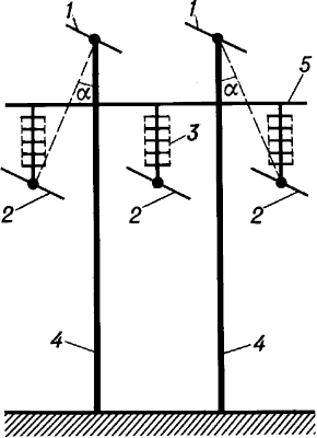 Промежуточная опора линии электропередачи.