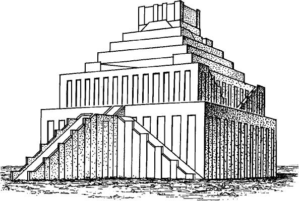 Зиккурат Этеменанки в Вавилоне.